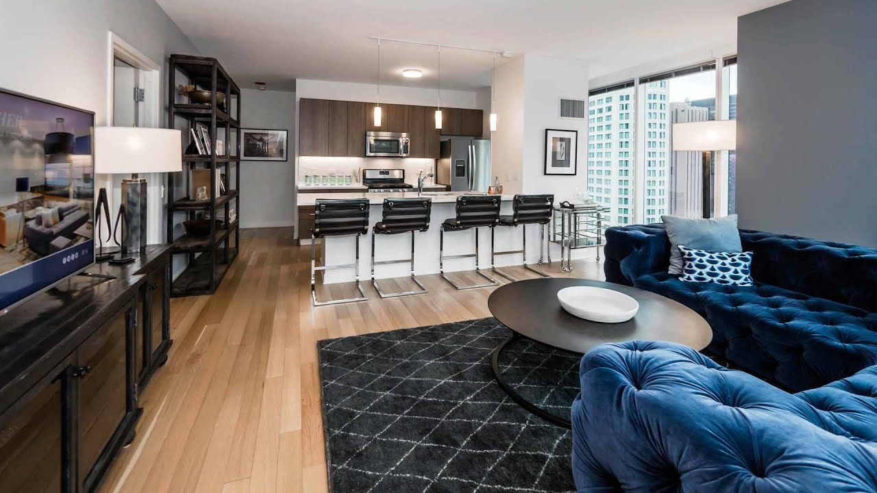 Tour A New Luxury 2 Bedroom 2 Bath At Streeterville S North Water Apartments Youtube