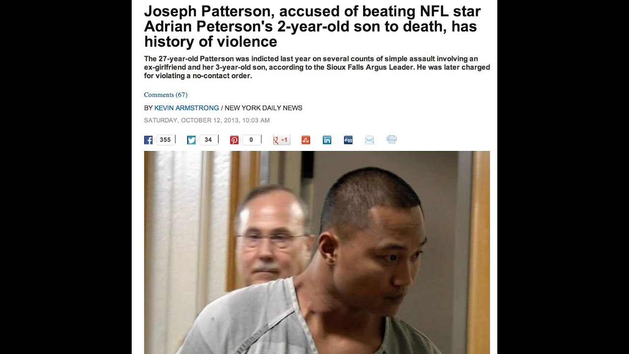 """Adrian Peterson's """"secret"""" 2yr old son beat to death by ..."""