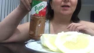 ASMR - Eating Grapefruit with Tajin