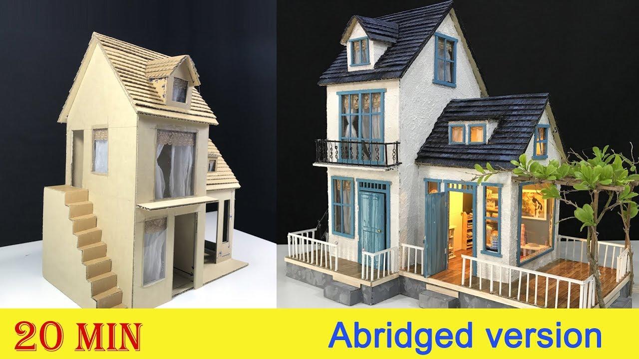DIY Cardboard House with Garden - Abridged version - YouTube