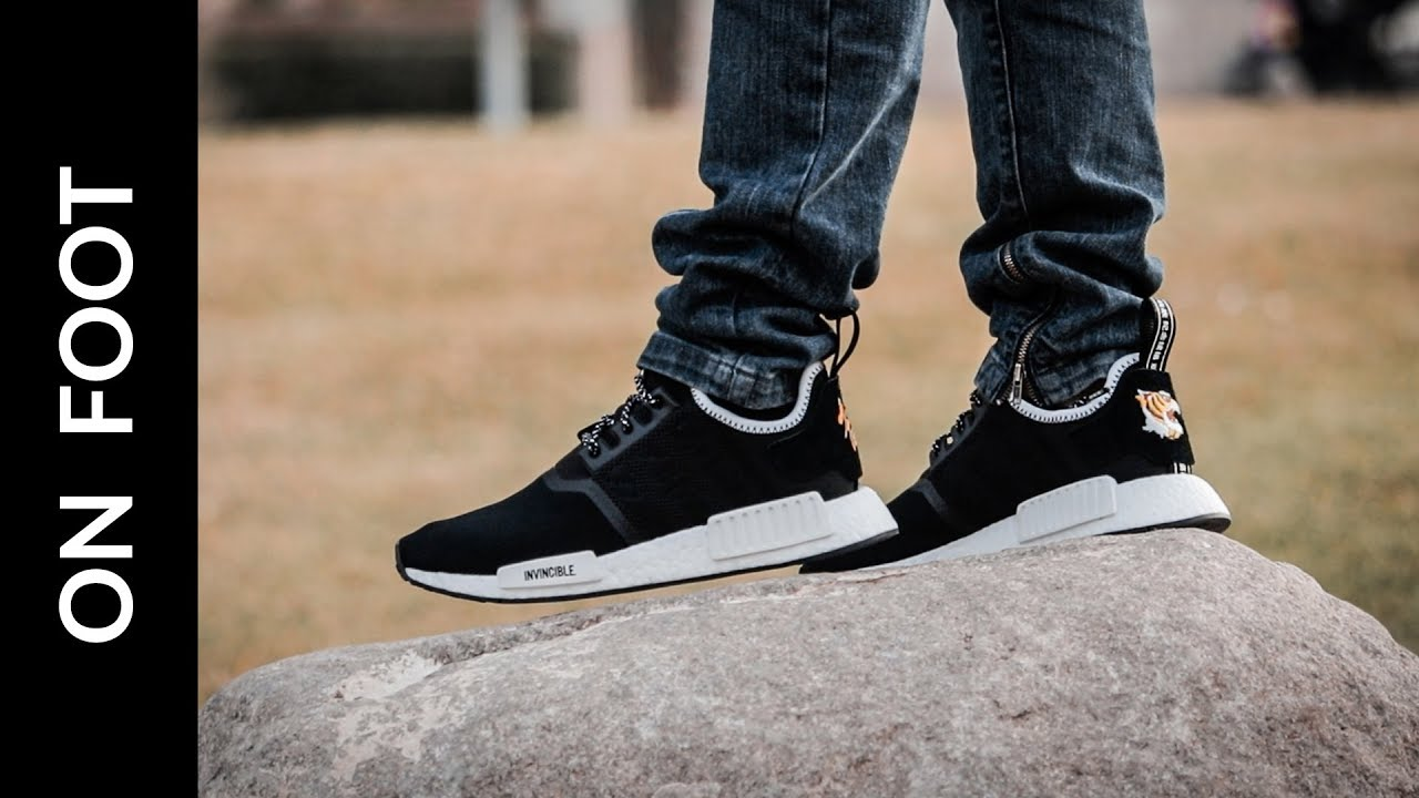 new arrival 4c29b 6e482 INVINCIBLE x NEIGHBORHOOD x adidas NMD R1 (on foot)