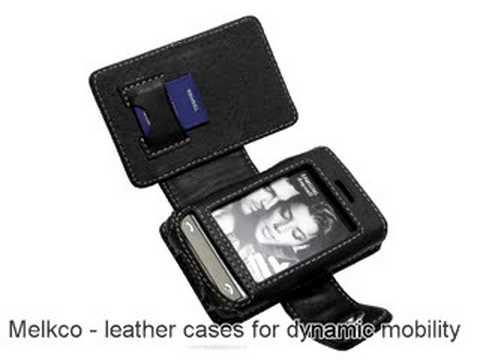 Melkco Tasche Leder Etui cuir ~Samsung SGH-P520 Armani - Book Type (Black)