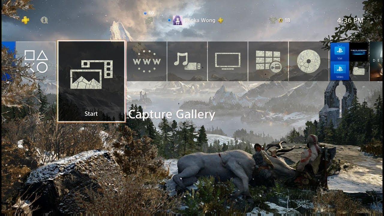 God of War - A New Beginning Dynamic Theme PS4