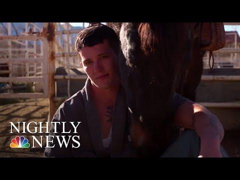 Colorado Prison Inmates Taming Wild Horses   NBC Nightly News