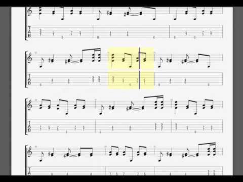 MetallicaUntil It Sleeps James guitar tablature