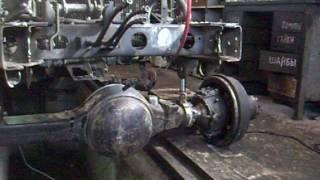 Продолжение установки переднего моста от ГАЗ-66
