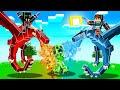 FIRE DRAGON vs ICE DRAGON in Minecraft! (CRAZY)