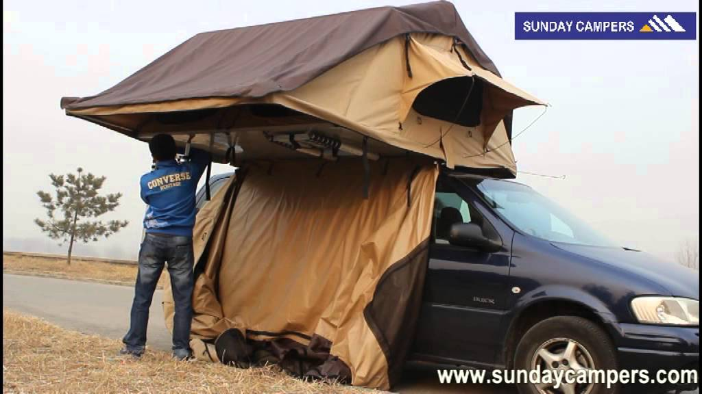 & Set up annex room roof top tent - YouTube