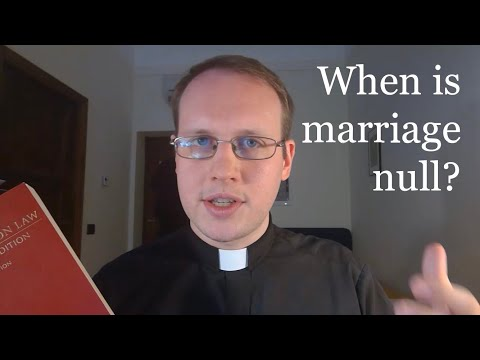 When is Marriage Null? Part 1: Introduction