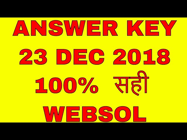 ANSWER KEY 23 DEC 2018 RKCL RSCIT EXAM