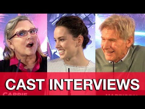 Star Wars The Force Awakens Press Conference - Carrie Fisher, Harrison Ford & Cast