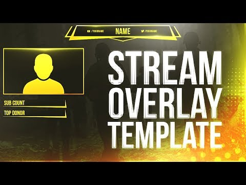 FREE Twitch/Youtube Stream Overlay Template DOWNLOAD 2017