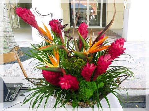 tropical flower arrangements youtube rh youtube com