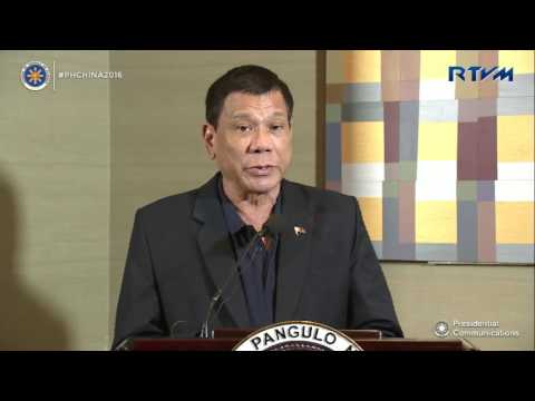 Press Conference with the Malacañang Press Corps 10/19/2016