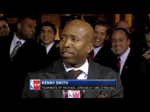 Michael Jordan 2009 HOF Tar Heel Love To Kenny Smith