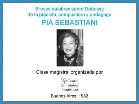 Pía Sebastiani / Breves palabras sobre Debussy