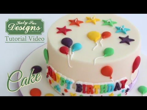 Balloons For Cake Decoration : Balloons Cake Decorating Tutorial - YouTube