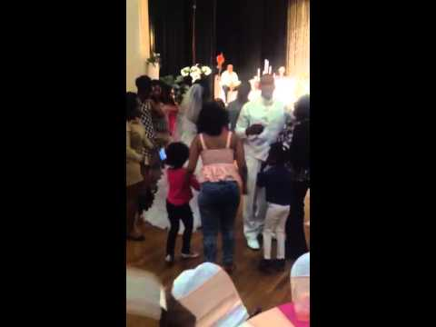 Little Jewel dancing @ TJ & Woo wedding reception 2014
