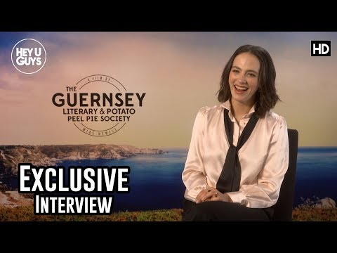 Jessica Brown Findlay  Downton Abbey reunion in The Guernsey Literary and Potato Peel Pie Society