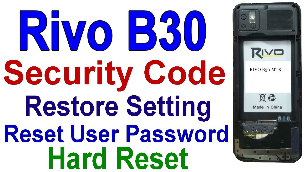 RIVO B30 SC6533G Reset Security Code, Hard Reset, Factory Reset, Boot Key=5  Flash & Reset, Tahir Tv