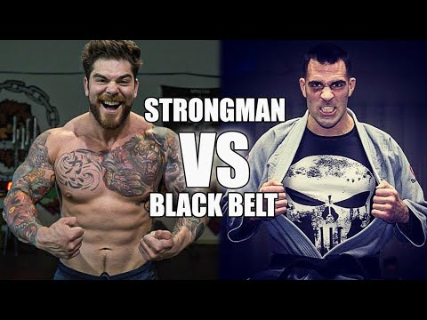 champion 250lb strongman vs BJJ Black belt Ricardo Migliarese + BJJ basics (Half guard sweeps)