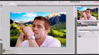 #1. Как поменять фон в Photoshop [PS Maker](Первое видео. В этом уроке вы научитесь менять фон у любого фото, управлять цветами и слоями, а так же сохран..., 2013-07-04T03:55:55.000Z)