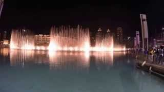Dubai Fountain Dancing on Umm Kulthum song