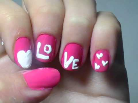 - LOVE Nail Art Design ♥ - YouTube