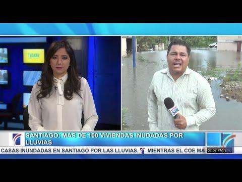 Santiago: Más de 100 viviendas inundadas por lluvias - Noticias SIN Primera Emisión 05/05/2017
