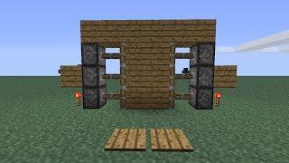 Puerta automática con pistones de Redstone Minecraft 1.7.4