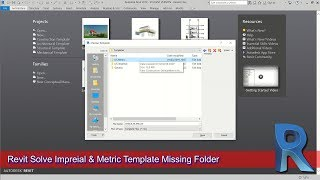 Revit Solve Imperial And Metric Missing Template Folder