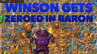 Wins0n gets ZEROED at Baron ONLINE Lords Mobile