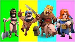 Wrong Heads Clash of Clans | Hog | Rider | Barbarian | Nursery Rhymes Song For Children