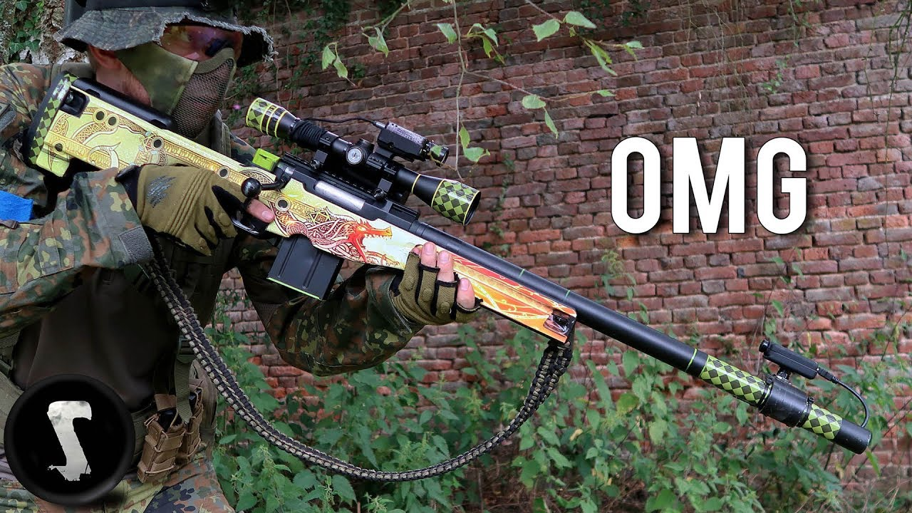 Guy Brings Airsoft Awp Dragon Lore And Destroys Everyone Youtube