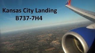 *Onboard* Southwest Smooth Landing 737-700 Kansas City International HD