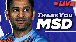 Thank You MS DHONI   MSD retires   Cricket Aakash LIVE