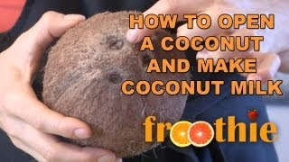 How To Open a Coconut and Make Coconut Milk on Getting Into Raw: Cooking with Zane - Optimum 9900