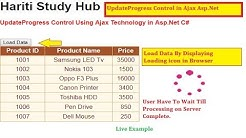 How to Use UpdateProgress Control Using Ajax Technology in Asp.Net C# | Hindi | Online Learning