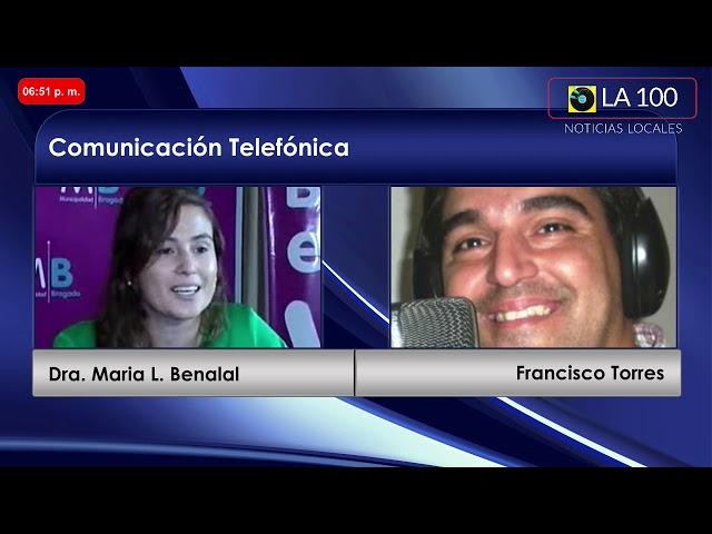 La Dra. Maria Laura Benalal y la Asistente Social Melina Rodriguez, dialogaron con La 100 Bragado