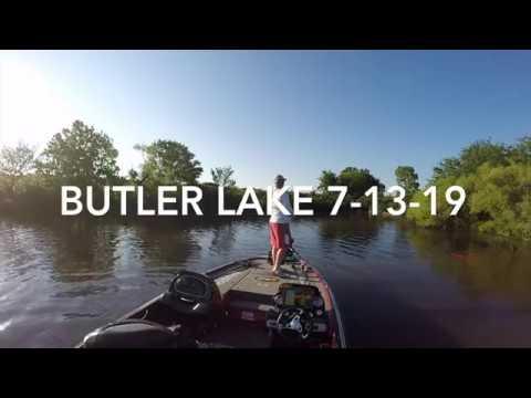 Kansas: Butler Lake Bass Fishing 7 -13-19