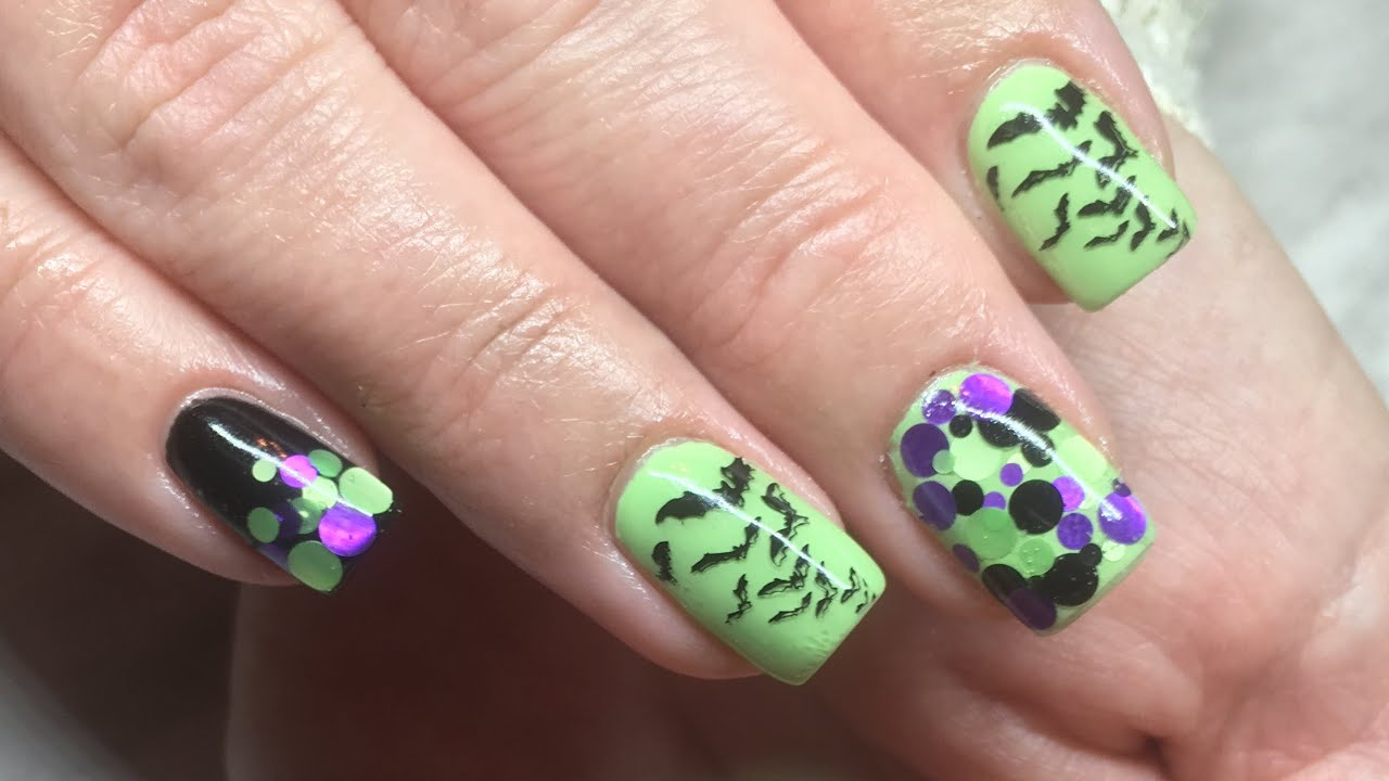 Halloween Nails done with Canni Gel Paint/Sequence ...