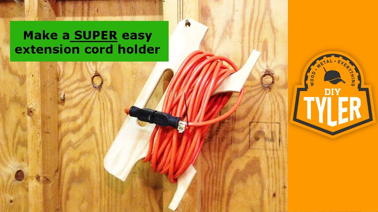 Extension Cord Reel From Scrap Wood 011 Youtube