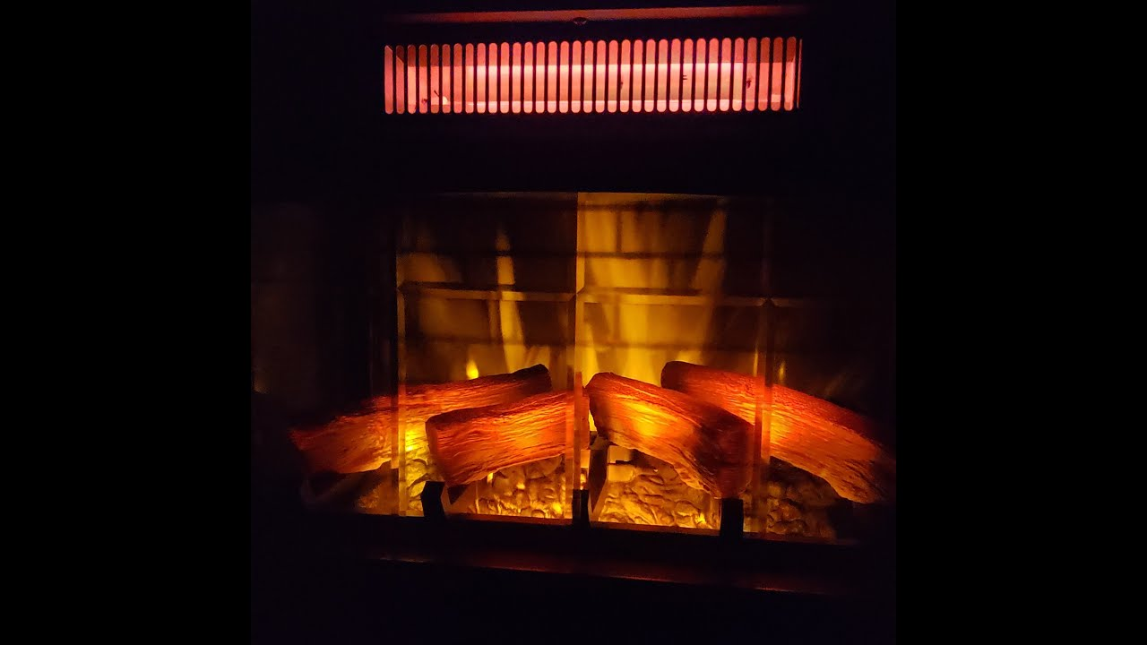 Duraflame Infrared Quartz Heater With 3 D Flame Effect Youtube