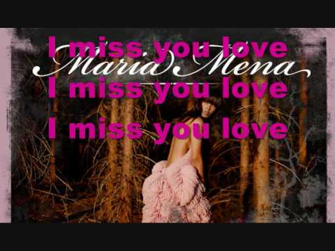 Maria Mena - Miss You Love Lyrics