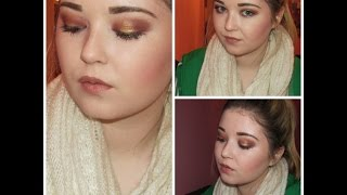 Full Face Tutorial Gold/Plum Eyes - Naked Palette, Catrice Eye Quad Thumbnail