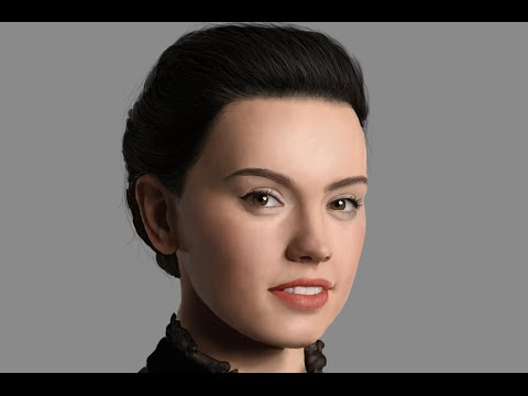 Download Youtube: Speed Painting - Daisy Ridley ( Rey - Star Wars : The Force Awakens )