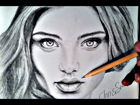 HOW TO DRAW Female Portrait with pencil YouTube