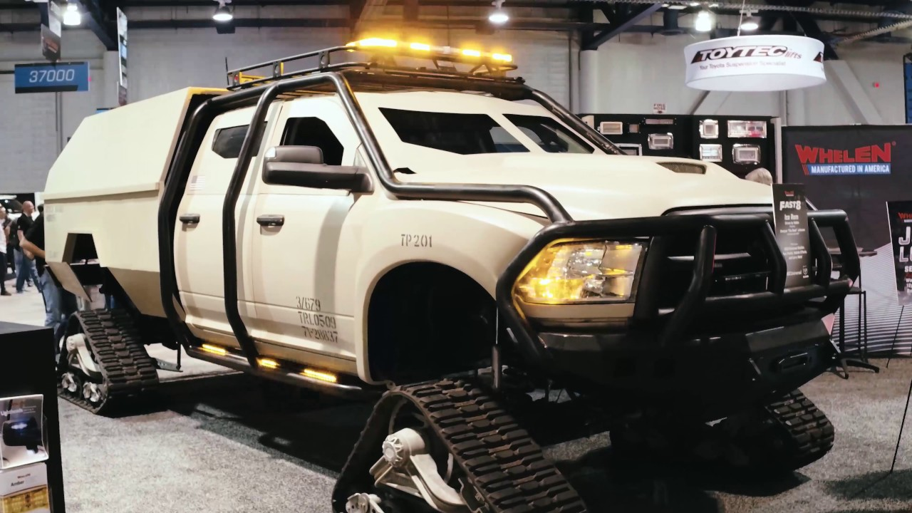 Ice Ram Custom Dodge With A Track System Fast And Furious 8 Sema 2016
