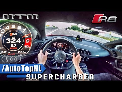 802HP Audi R8 V10 Plus SUPERCHARGED 324km/h AUTOBAHN POV by AutoTopNL