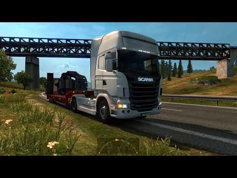 Euro Truck Simulator 2 Von Deutschland nach Schweden   Kassel - Helsingborg Schwerlasttransport